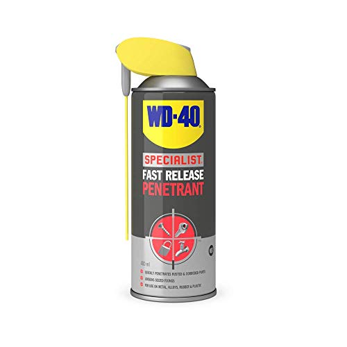 WD-40 Specialist, Fast Release Penetrant with Smart Straw, Loosens Rusted or Seized Parts, 400ml