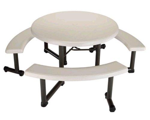 Awe Inspiring Lifetime Round Picnic Table And Benches 44 Inch Top Inzonedesignstudio Interior Chair Design Inzonedesignstudiocom