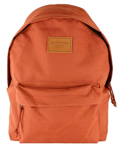 Watershed Mens Union Leather Badge Backpack - Rust Red