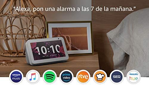 Echo Show 5, blanco +Tapo P100 Enchufe inteligente, compatible con Alexa