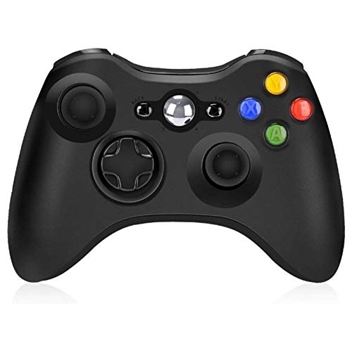 CHANGTRANSLATION Controllo Vibrazione del Gamepad Wireless .Maniglia Confortevole e Bella (Color : Black)
