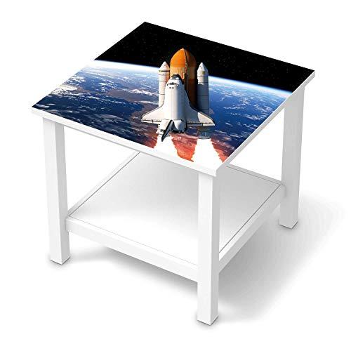 creatisto Möbel-Folie passend für IKEA Hemnes Beistelltisch 55x55 cm I Möbelfolie - Möbel-Tattoo Sticker Aufkleber I Deko Ideen Wohnung für Esszimmer und Wohnzimmer - Design: Space Traveller