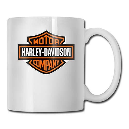 Tazza in ceramica con logo Harley Davidson, realizzata a mano, per uomini e donne, ideale per ufficio e casa, perfetta come regalo