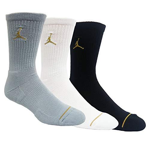 Nike Jordan Jumpman Crew Basketball Socks (3 Pair) SX5545 (Large)