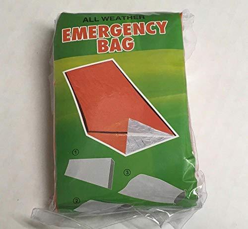 QQW Aluminiumfolie Wärmeableitungsraum Erste Hilfe Notfall Überleben Schlafsack Camping Outdoor Decke Wanderausrüstung-Pe-Beutelverpackung