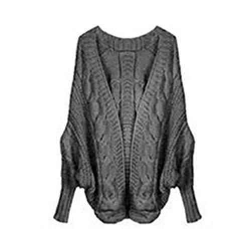 Groene HX Herfst Winter Gebreide Vesten Jas Vrouwen Lange Mouw Batwing Poncho Sweater Womans Gehaakte Cardigan