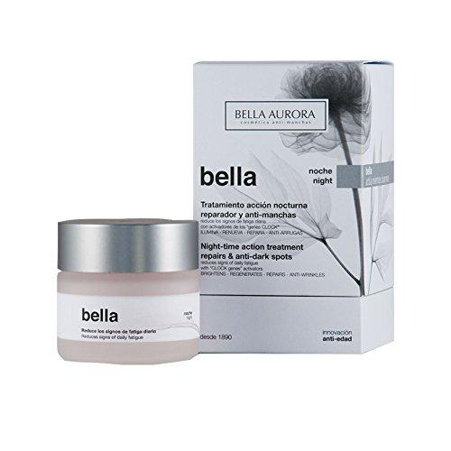 Bella Aurora Crema de Noche Anti-Arrugas Mujer 35+ Años, 50 ml | Anti-Edad | Anti-Manchas | Tratamiento Facial Hidratante para Mujer | Pieles Maduras | Bella
