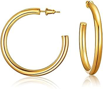 Jelbolin 14K Gold Plated Hoop Earrings