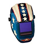 Jackson Safety Welding Helmet, 46118 - True Sight II Digital Variable Auto Darkening Filter with Balder Technology, Protective Welder Face Mask with HLX100 Stars & Scars Shell for Men and Women, Universal Size