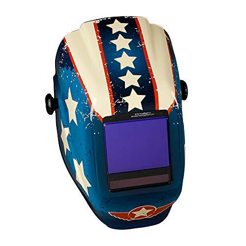 Jackson Safety Welding Helmet, 46130 - Digital Variable Auto Darkening Filter, Lightweight Protective Welder Face Mask with Light HLX100 Shell for Men and Women, Universal Size, Arc Angel Design