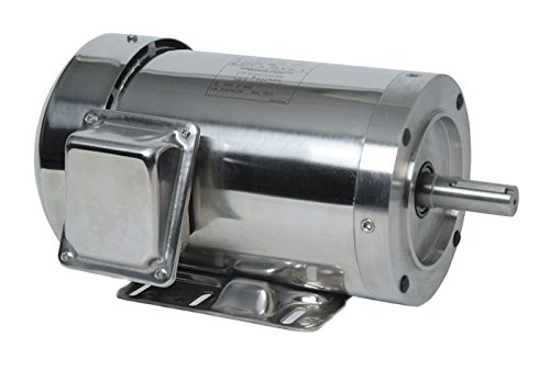 Leeson 191563.00 C Face SST All Stainless Washguard Motor, New EISA Compliant Model Number, 2 hp, 1800 RPM, 56HC Frame, TEFC, 208-230/460V, 3 pH, 60 Hz
