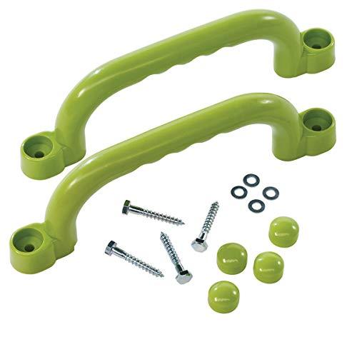 Haltegriffe Handgriffe 250x75mm apfelgrün für Spielanlagen paarweise von Gartenwelt Riegelsberger