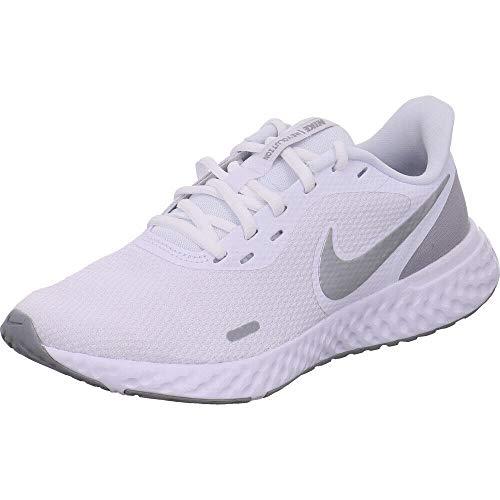 Nike Damen Revolution 5 Leichtathletikschuhe, Mehrfarbig (White/Wolf Grey/Pure Platinum 100), 39 EU