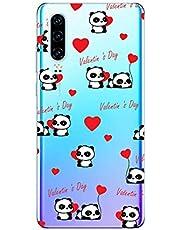 Oihxse Cristal Compatible con Huawei Y6 Pro 2019/Y6 2019/Enjoy 9E/Honor 8A Funda Ultra-Delgado Silicona TPU Suave Protector Estuche Creativa Patrón Panda Protector Anti-Choque Carcasa Cover(Panda A6)