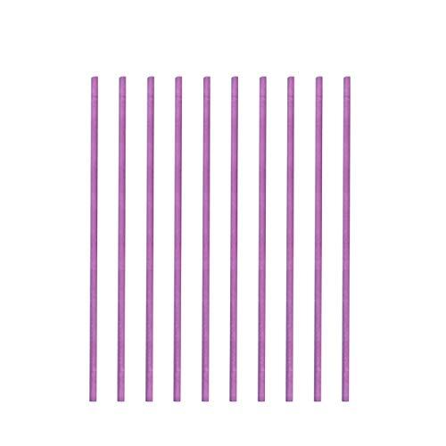 Read About SUPVOX 200pcs Purple Lollipop Sticks Cake Pop Sticks Paper Lollipop Sticks Craft Rods for...