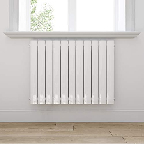 Badheizkörper Design Heizkörper 630x847mm Einlagig Badezimmer/Wohnraum Seitenanschluss Weiß Flachheizkörper Badheizkörper Radiator