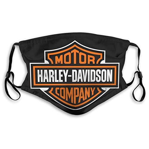Renfkbgf Harley Davidson sciarpa filtrante senza cuciture Bandana protezione viso riutilizzabile antipolvere M.