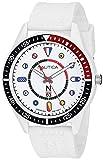 Nautica N83 Men's NAPSPS905 Surf Park White/Black Silicone Strap Watch