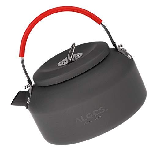 LEIPUPA 1.2/1.4L Lightweight Fishing Kettle Camping Hiking Travel Folding Handle Teapot - 1.2L