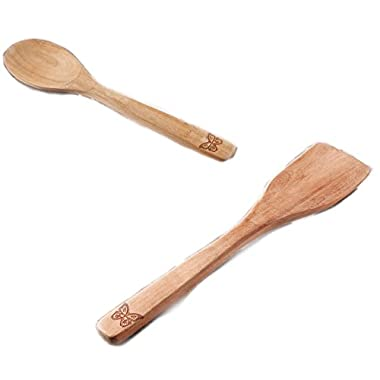 The Pioneer Woman Cowboy Rustic Acacia Wood Spoon & Turner Set
