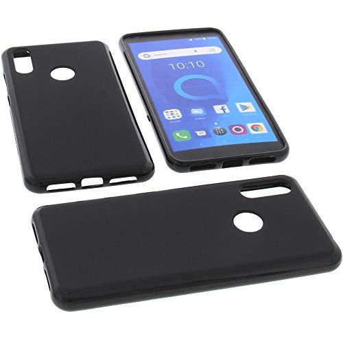 foto-kontor Funda para Alcatel 5V Protectora de Goma TPU para móvil Negra