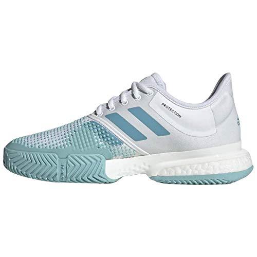 Adidas SoleCourt Boost W x Parley, Zapatillas de Deporte Mujer, Multicolor (Blanco/Azuvap/Espazu 000), 38 EU