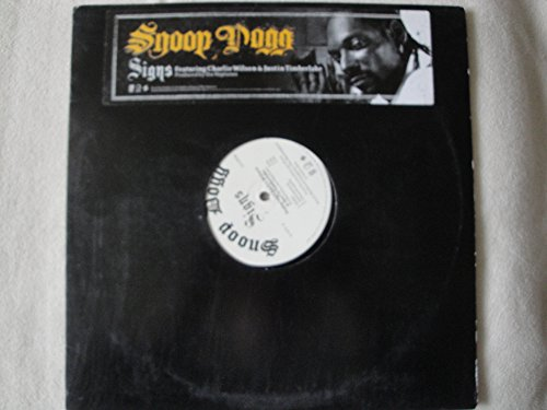 Snoop Dogg Signs Featuring Charlie Wilson & Justin Timberlake 12' Single Vinyl 2005 Geffen Records GEFR 11349-1 from R & G (Rythm & Gangsta): The Masterpiece