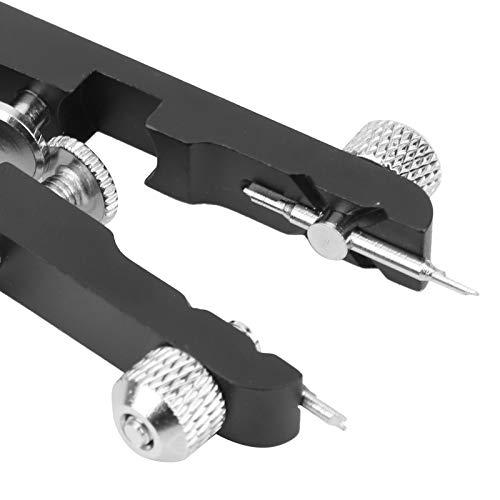 Herramienta de alicates de barra de resorte, kit de pinzas Juego de removedor de eslabones de reloj Alicates de barra de resorte con pasadores 6825 para correas de reloj(black)