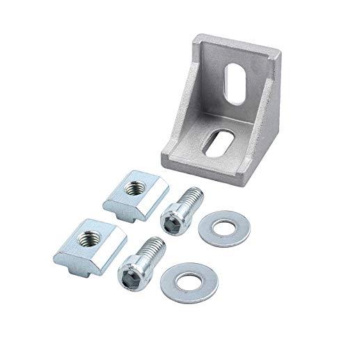 eSynic 10pcs 40x40 Soporte de Esquina Aluminio Escuadra de Ángulo Recto Fijación de Ángulo 40x40 y 40x80 Ranura Puntales de Trama