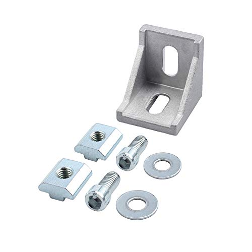 eSynic 10× Befestigungsmaterial Winkel Befestigung 40x40&40x80 Nut 8 Raster Streben Aluprofil