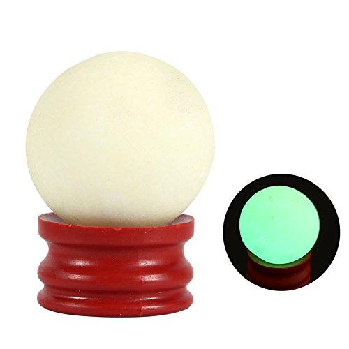 35 * 35MM Decoratie Bal met Basis Lichtgevende Steen Orb Glow in Donker Kwarts Sphere voor Desktop Tafel Decor