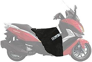 C003 Cubrepiernas OJ Maxi Fast Compatible con Yamaha T-MAX 500 Black MAX 2006 Impermeable antiviento Negro