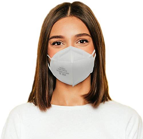FFP2 Maske 20 STK mit CE2834 Zertifiziert, Partikelfiltrierende Schutzmaske,masken mundschutz 5-Lagig EU Norm EN 149:2001