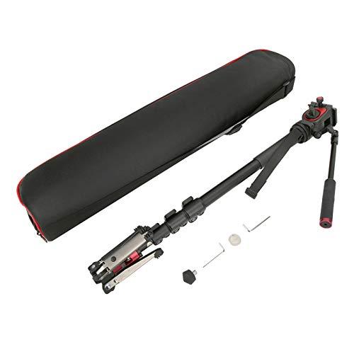 Monopie con rótula de Bola fluida Cámara DSLR de Disparo con inclinación de ángulo Alto Monopie Aleación de Aluminio, para cámara sin Espejo/DSLR/videocámara/estabilizador