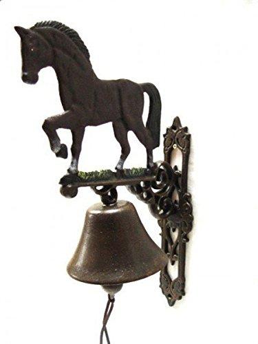 Luxe Pur UG deurbel gietijzer decoratie paard klok huisingang bel antiek nostalgie