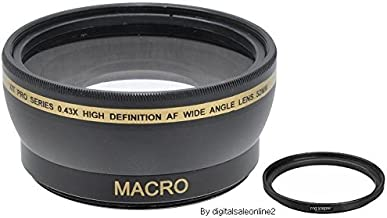 XIT For Sony - 58mm 0.43x Wide Angle Lens For Sony Cyber-Shot: DSC-HX400, DSC-H400 | Digital Cameras