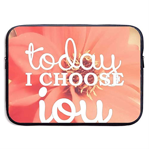 Laptop Sleeve Bag Today I Will Choose Joy 15 Inch BriefSleeve Bags Cover Notebook Waterproof Portable Messenger Bags