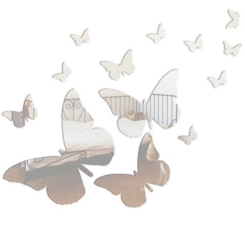 Mungai Mirrors Miroir acrylique papillons Lot