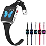 Compatible Slim Watch Band 42mm 44mm Women Silicone Narrow Watch Band Thinner Sport Wristband Replacement for Apple Watch iWatch Series 4 3 2 1 S/M M/L Size (42-44-sw-5pc)