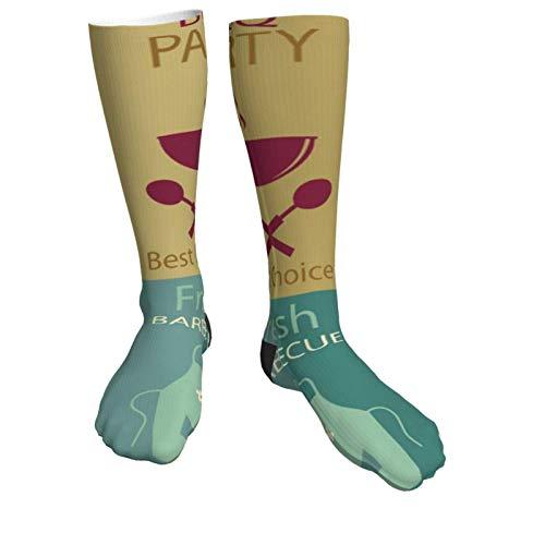 Calcetines de compresión para mujeres y hombres Calcetines gruesos de tacón con...
