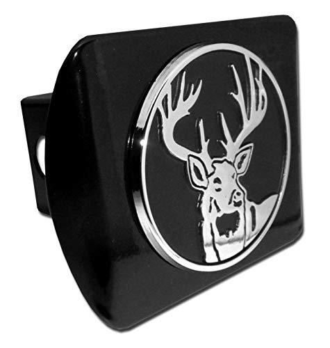Buck Hunting Black Metal Hitch Cover