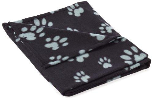 Trixie 37183 Fleecedecke Barney, 150 × 100 cm, schwarz/grau