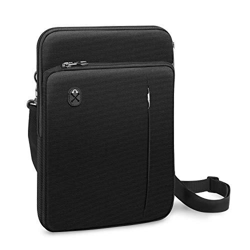 FINPAC Funda para Portátiles de 13 , Bolsa de Hombro Maletín Repelente al Agua para MacBook Air 13 MacBook Pro 13 iPad Pro 12.9 Microsoft Surface Pro 7 6 5 4 3, Negro