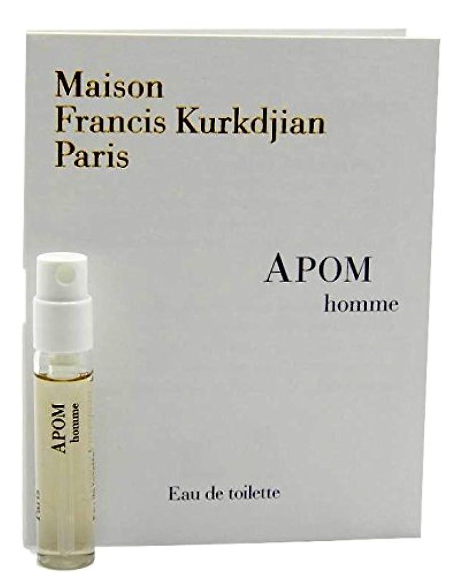 はがき舗装する学習者Maison Francis Kurkdjian Apom Homme EDT Vial Sample 2ml(メゾン フランシス クルジャン アポム オム オードトワレ 2ml)[海外直送品] [並行輸入品]