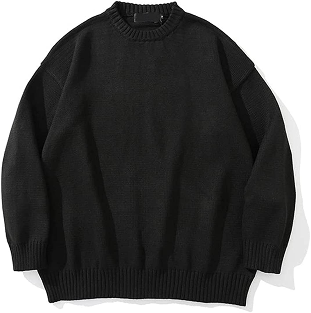 Solid Knitted Sweater Men Streetwear Winter Classic Pullover Sweater