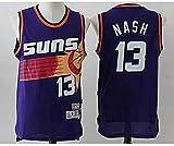 XXMM Camiseta para Hombre, Camiseta De Baloncesto Sin Mangas con Chaleco Sin Mangas NBA Phoenix Suns # 13 Nash, Cómoda/Ligera/Transpirable, Cómoda De Llevar,XL(180~185cm)
