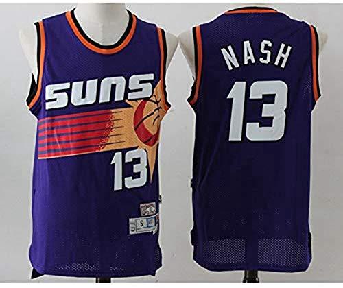 YZQ Mens Jersey - Phoenix Suns # 13 Steve Nash - Basketball NBA Retro Atmungsaktiv Schnell Trocknend Gym Vest Sports Top,XXL(185~190cm/95~110kg)
