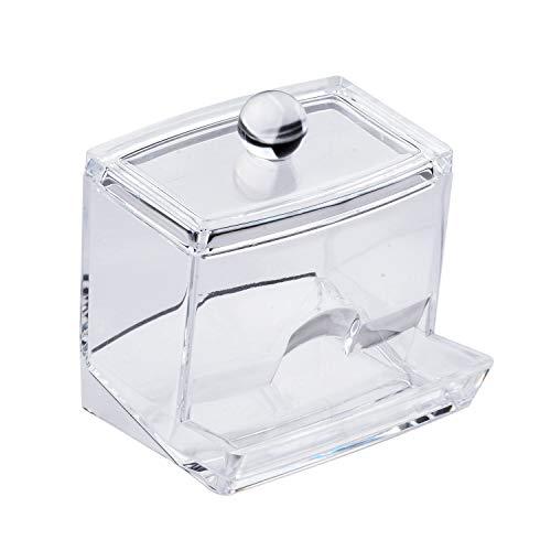 透明アクリルQ−Tip化粧料収納コットンSwabケース、アクリルQ型コットンSwab収納ラック及び化粧料収納ケース