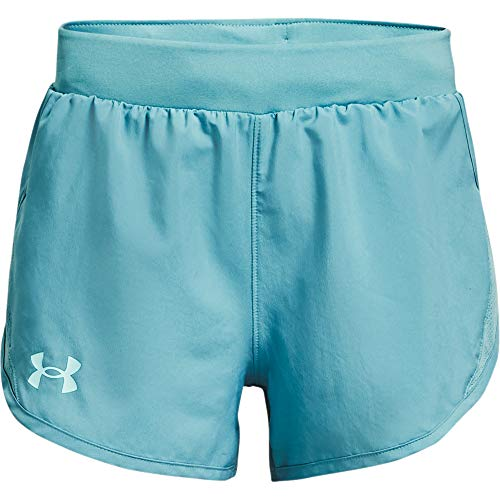 Under Armour Kids Girls' Fly by Shorts, Cosmos, MD (10-12 Big Kids)