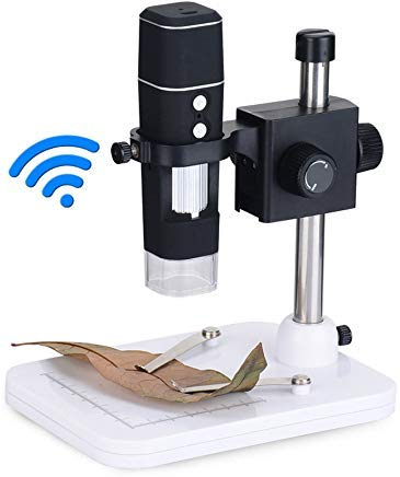 HUASOET WIFI Handheld Digital Microscope Magnification 0-500X High Definition Electronic Portable Wireless Digital Detection Enlarge Rechargable For Android/iOS Mobile Phone And Flat Panel